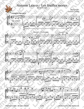 autumn leaves vocal sheet music pdf