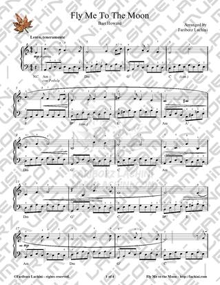 fly me to the moon piano solo sheet music pdf